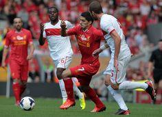~ Luis Suarez on Liverpool FC against Olympiakos during the Steven Gerrard Testimonial Match ~