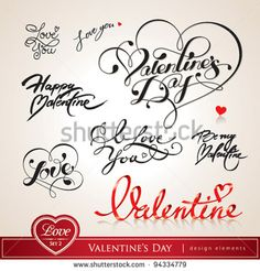Stock Images similar to ID 70538179 - valentine card with lettering i ...