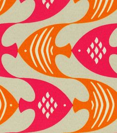 Home Decor Print Fabric-Pkaufmann Ocean Current Tiger Lily at Joann.com