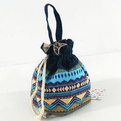 Canvas Bucket Gypsy Small Bag