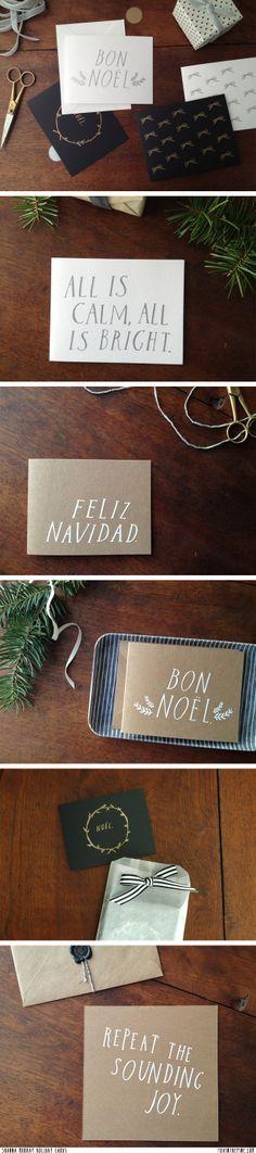 Shanna Murray Holiday cards   //   FOXINTHEPINE.COM
