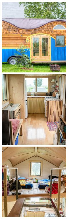 Imagine living in a 208-square-foot space with your spouse and two children. This is a reality for one Indiana family of four who lives in the gorgeous Pequod tiny house.