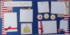 Beach Scrapbook Layouts   Request a custom order and have something made just for you.