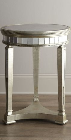 """.""""Amelie"""" Mirrored Lamp Table"""