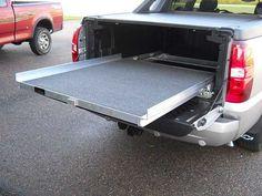 Truck Bed Cargo Slides - SlideMaster Truck Bed Slide, Truck Bed Camper, Jeep Truck, Truck Bed Drawers, Truck Bed Storage, Work Trailer, Trailer Build, Custom Truck Beds, Custom Trucks
