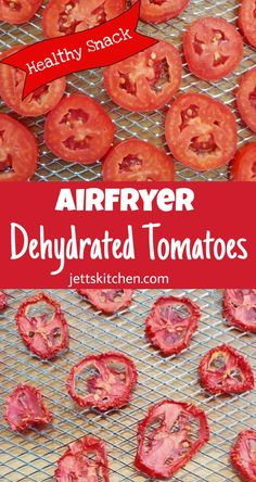 Dehydrated Tomatoes using the AirFryer makes a great snack or add to salads. Dehydrating Tomatoes, Oven Dried Tomatoes, Fried Tomatoes, Roasted Veggies In Oven, Dehydrated Vegetables, Dehydrated Food, Healthy Foods To Eat, Healthy Snacks, Vegetable Snacks