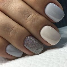 nude, pastel and glitter nails