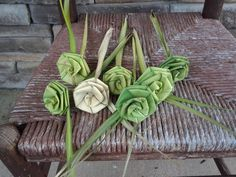 Gullah Palmetto Rose 7 flowers included by DsweetgrassBasketry, $30.00