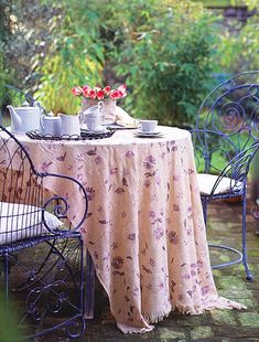 Table setting out in the garden...