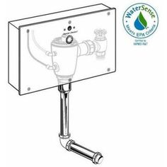 American Standard Maybrook 1.0 GPF Urinal in White-6581