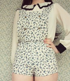 The Pineneedle Collective: DIY Floral Overalls/Romper