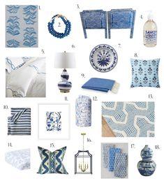 Elements of Style Blog | A Bit of Blue | http://www.elementsofstyleblog.com