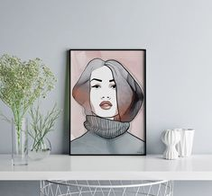 High quality, hand signed art prints from Norwegian artist and designer Linda Skaret available in several sizes and colors. Home Goods Decor, Home Decor, Art Pop, Beautiful Ladies, Painting & Drawing, Art Prints, Cool Stuff, Colors, Drawings