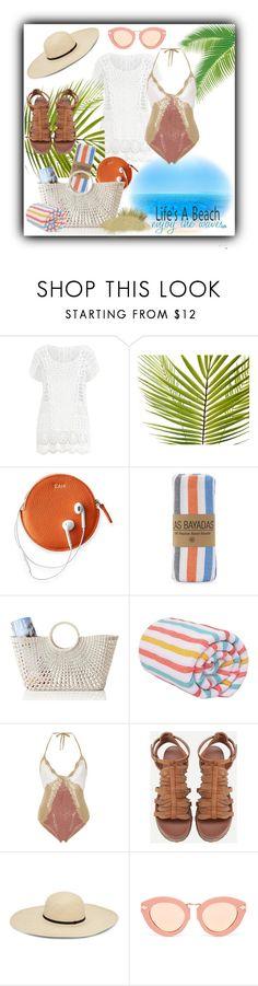 """Crochet bathing suit"" by closet-freak ❤ liked on Polyvore featuring Ralph Lauren, Mark & Graham, Las Bayadas, All That Remains, Karen Walker, Life's a Beach and crochetswimwear"