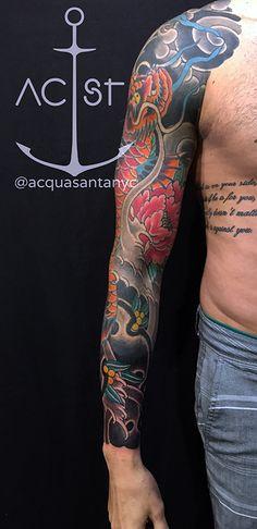 #waves #disipline #tattoos #tattooist #madprof #tattoo #bodyart #ink #blacktattoo #black #art #dragon #dragontattoo #koi #sunskinmachine #linework #outline #elgatonegrotattoocare #uktta #artist #artistic #bold #thightattoo #koidragon #fishdragon #ebiescrow #tattooed #oriental #goldfinger #bali