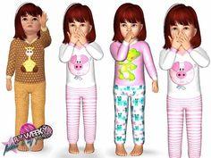 Sims 3 / My Animals Pajamas - Weeky / Toddler Female