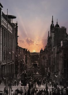 Glasgow, Scotland. Site of my first Irn Bru and 1st stop on our Scotland backpacking =)