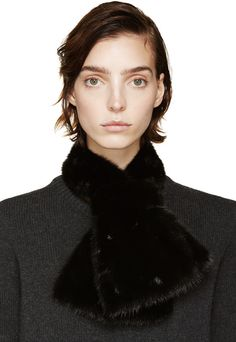 $2,220, Marni Black Mink Fur Collar. Sold by SSENSE. Click for more info: https://lookastic.com/women/shop_items/319282/redirect
