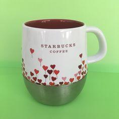 Starbucks 2007 Urban Hearts Stainless Steel Bottom Travel Pink Coffee Cup 14oz #Starbucks