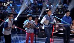 "Romeo Espino, Altair Aguelo and Emman & Sandy Tanyo performed their version of Bruno Mars' hit ""Billionaire"" on The Voice Kids Philippines Season 2 'Battle Rounds,' August 1, 2015."