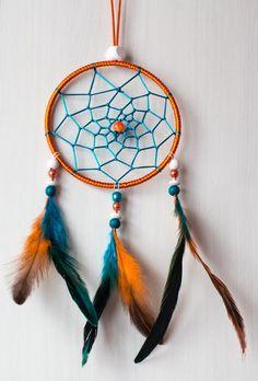 """Attrape-rêves """"fait main"""" cercle 12 cm pour des nuits merveilleuses : Accessoires à accrocher par reves-de-fee"""