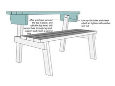 bench that turns into a picnic table plans ana white Folding Picnic Table Plans, Build A Picnic Table, A Table, Picnic Tables, Folding Tables, Diy Furniture Easy, Trendy Furniture, Furniture Plans, Wooden Furniture
