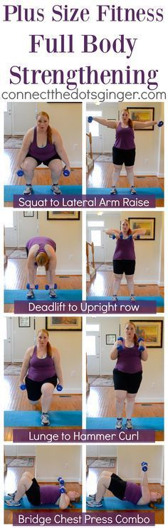 Plus size fitness. Try these combo exercises for a Total body strengthening workout! | at home fitness