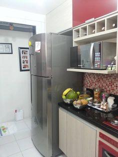 Projeto já executado da cozinha de uma cliente. O projeto foi pensando, criado e construído no Programa Promob. Cliente satisfeita.