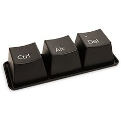 "Oh, how many times have we used those 3 keys. :) Bill Gates recently admitted that the familiar ""Control+Alt+Delete"" command was a ""mistake. Bill Gates, Coffee Cup Set, Coffee Mugs, Coffee Break, Tea Cup, Control Alt Delete, Keyboard Keys, Computer Keyboard, Keyboard Shortcuts"