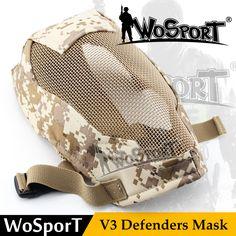Wosport戦術ペイントボールマスク通気性金属鋼ネットメッシュプロップ戦争ゲーム軍事フルフェイスマスクペイントボールアクセサリー