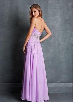 Stunning A-line Chiffon Sweetheart Neckline Hi-lo Homecoming Dress With Beadings & Rhinestones