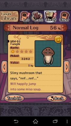 Mushroom Garden (Game) : Let's Grow Funny and Cute Mushroom, 'Nameko! Stuffed Hot Peppers, Stuffed Mushrooms, Garden Games, Japanese Characters, Cute Japanese, Let It Be, Baseball Cards, Gallery, Party
