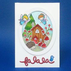 I live this fairies stamp set by Lawnfawn. It's easy to create with those cute images. #lawnfawn #cardmaking