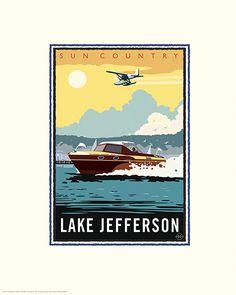 Lake Jefferson - Sun Country Minnesota Lakes Project - art by Mark Herman