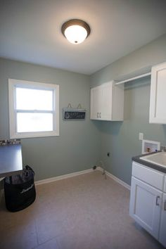 Sherwin William Silvermist Laundry Room Design Ideas, Pictures, Remodel and Decor