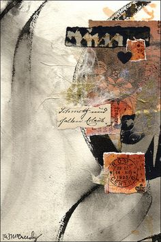 Judy Melvin workshop, collage artwork by Kathy McCreedy, via Flickr