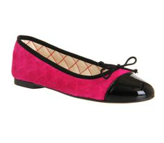 Office Cecilia Toe-cap Ballerina Pink Suede - Flats #OFFICEMUSES15
