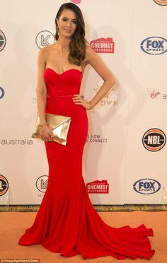 Emily Simms.. Elle Zeitoune Arianna red gown..