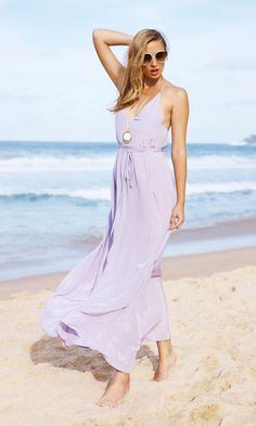 One thing is for sure! Summer and maxi dresses go along like milk and cookies! Take a look at these lovely and stylish maxi dress outfits and see. 15 Dresses, Beach Dresses, Dress Outfits, Summer Dresses, Lavender Gown, Lilac Dress, Rose Bonbon, Designer Dresses, Beachwear