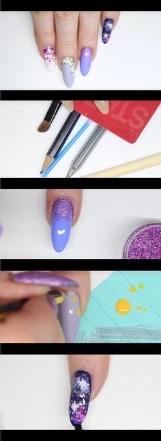 Creatively Clever Nail Art Hacks - NO TOOLS NAILS HACK - NAIL ART FOR BEGINNERS (Holo, Dots Spots, Flowers, Galaxy) - Easy DIY Ideas, Tips, And Tutorials For Nail Art Hacks. Every Girl Needs To Try These Awesome Ideas For Glitter, That Go Great With Makeup That Is Simple And It Works. These Hacks Are Step By Step And Easy And Clever - https://thegoddess.com/nail-art-hacks