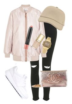 """""""Exchange"""" by amuramasri on Polyvore featuring Topshop, Acne Studios, Hermès, NIKE, Chanel, Casio, Dolce&Gabbana and MAC Cosmetics"""