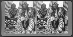 Little Dog and wife - Blackfoot - no date -  Chief of the Blackfoot