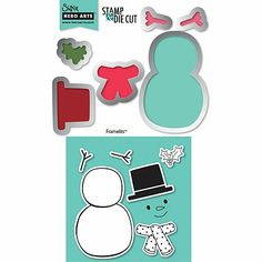 Sizzix Framelits Stamp and Die-Cut Set - Snowman #2