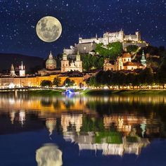 Remember the end goal wherever that may be. Salzburg looks spectacular in this pic from Wonderful Places, Beautiful Places, Beautiful Pictures, Earth City, Salzburg Austria, Medieval, Travel Abroad, Great View, Places To See