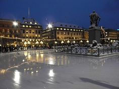 Ice Skating in downtown Stockholm - 11/05 - can't beat that in November.