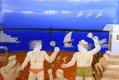 On the beach © Alekos Fassianos Ancient Myths, Legion Of Honour, First Blog Post, Greek Art, Cool Artwork, Mythology, Folk, Poster, Painting