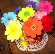 květiny se šitím - dárek ke dni matek