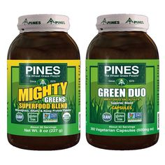 """""""For healthier looking hair, skin or nails, we all need a healthier body """"base"""". PINES Alfalfa Mighty Greens Superfood Blend is a dark green food powder that you can mix with water or juice, or just about anything. The blend is full of nutritious and effective nutrients from organic wheatgrass and alfalfa. It's not only a good addition for daily diet, but also it energizes you-naturally.  """"If you're not a """"green powder"""" drinker, then try PINES Wheat Grass Green Duo Capsules. They are also…"""