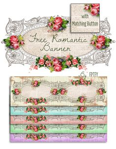 Free Romantic Rose Digital Collection | *Free ♥ Pretty ♥ Things ♥ For ♥ You* http://www.freeprettythingsforyou.com/2013/04/free-romantic-rose-digital-collection/