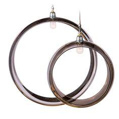 Mercury Glass Ring Pendants, 1950s French